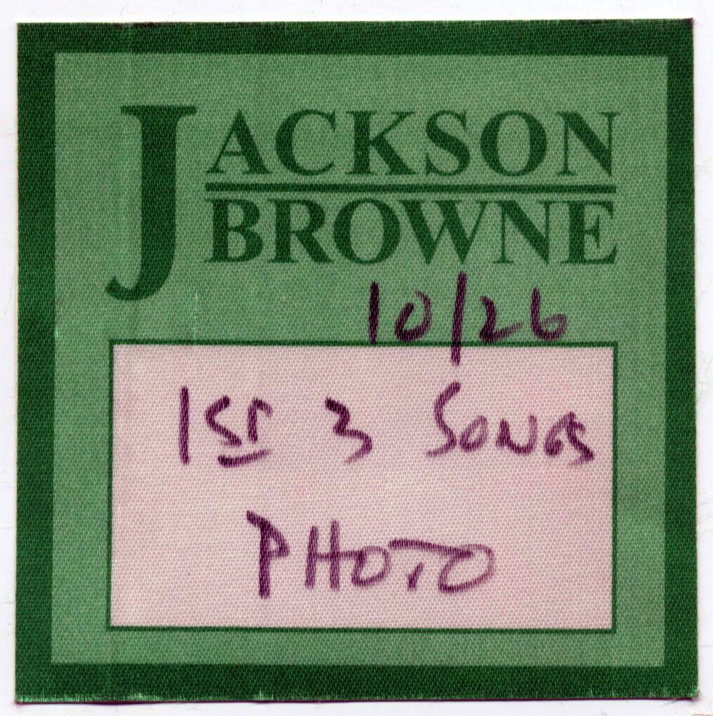 Massimo Rana FrontStage – Ritratti dal palco Jackson Browne Pass – Crowdbooks Publishing